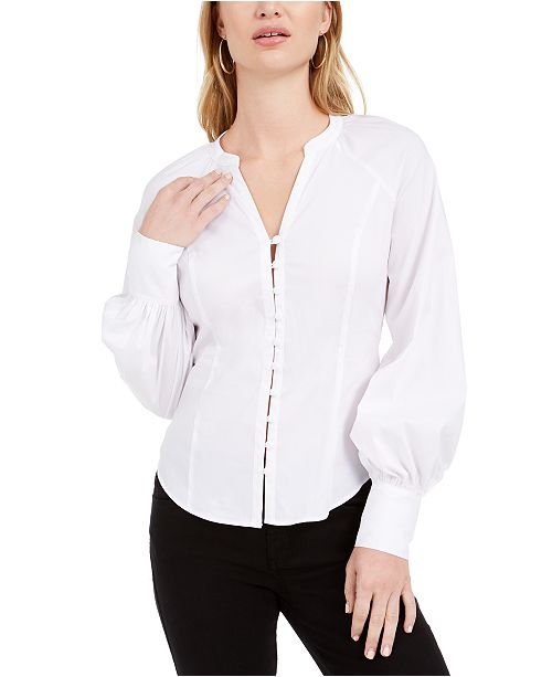 GUESS Niall Button-Up Blouse
