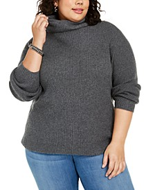 Plus Size Ribbed Turtleneck Sweater