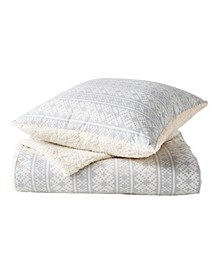 G.H. Bass Fair Isle Sherpa Throw & Pillow 2-Pack