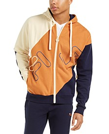 Men's Colorblocked Hooded Track Jacket