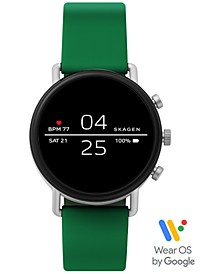 Unisex Falster 2 Green Silicone Strap Touchscreen Smart Watch 40mm
