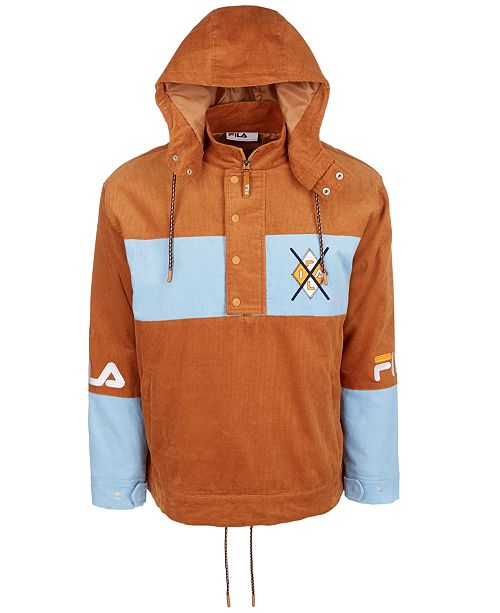 Fila Men's Corduroy Hooded Jacket