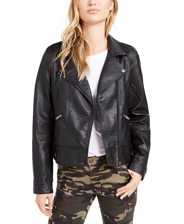 OAT Faux-Leather Moto Jacket