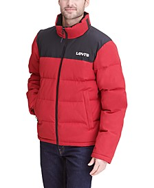 Men's Colorblocked Quilted Puffer Jacket