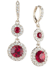 Crystal Halo Double Drop Earrings