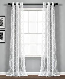 "Avon Trellis 38"" x 84"" Sheer Curtain Set"