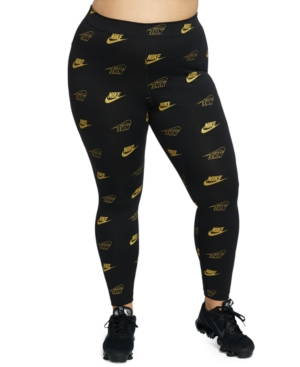 Nike Pants PLUS SIZE METALLIC LOGO-PRINT LEGGINGS