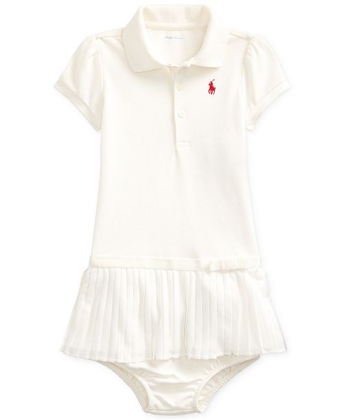 Polo Ralph Lauren Baby Girl's Pleated Polo Dress & Bloomer