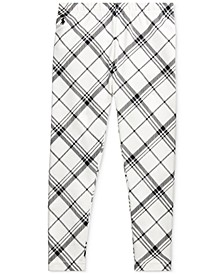 Little Girl's Plaid Stretch Jersey Legging
