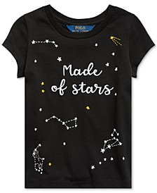 Little Girls Star-Print Cotton Jersey T-Shirt