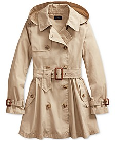 Girl's Water-Repellent Trench Coat