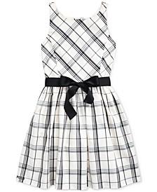 Big Girl's Plaid Taffeta Dress