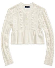 Big Girl's Cotton-Blend Cardigan