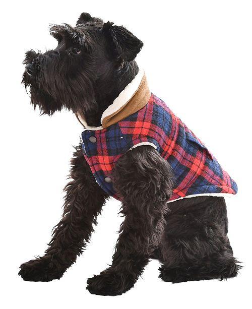 Parisian Pet Scottish Plaid Dog Jacket