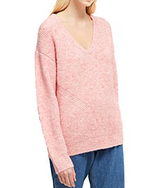 Shawl-Collar Relaxed Sweater