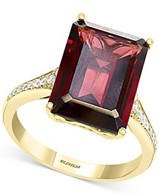 EFFY® Rhodolite Garnet (8-1/3 ct. t.w.) & Diamond (1/8 ct. t.w.) Ring in 14k Gold