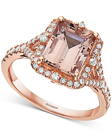 EFFY® Morganite (2-1/3 ct. t.w.) & Diamond (1/3 ct. t.w.) Statement Ring in 14k Rose Gold