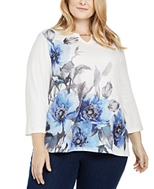 Plus Size Sapphire Skies Embellished Top