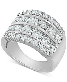 Diamond Multi-Row Band (3 ct. t.w.) in 14k White Gold