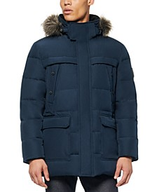 Men's Pembroke Down Filled Parka with Faux Fur Trimmed Hood