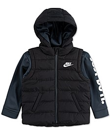 Little Boys 2-In-1 Hooded Therma Jacket