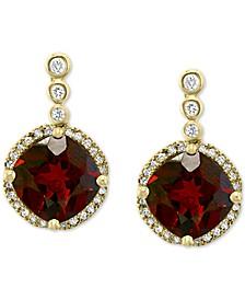 EFFY® Rhodolite Garnet (5-1/10 ct. t.w.) & Diamond (1/5 ct. t.w.) Drop Earrings in 14k Gold