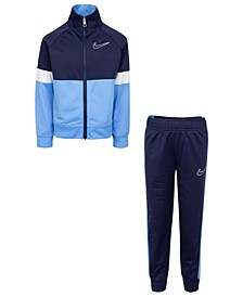 Little Boys 2-Piece Colorblocked Tricot Track Jacket and Pants Set