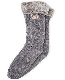 Chenille Knit Blizzard Slipper Sock, Online Only