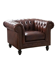 Micah Leather Arm Chair