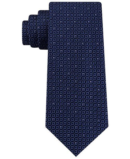 Michael Kors Men's Connected Squares Classic Geo Silk Tie