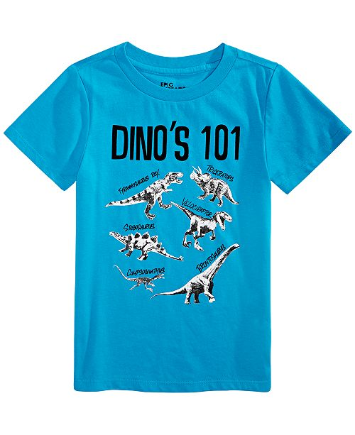 Epic Threads Toddler Boy Dinos 101 T-Shirt, Created For Macy's