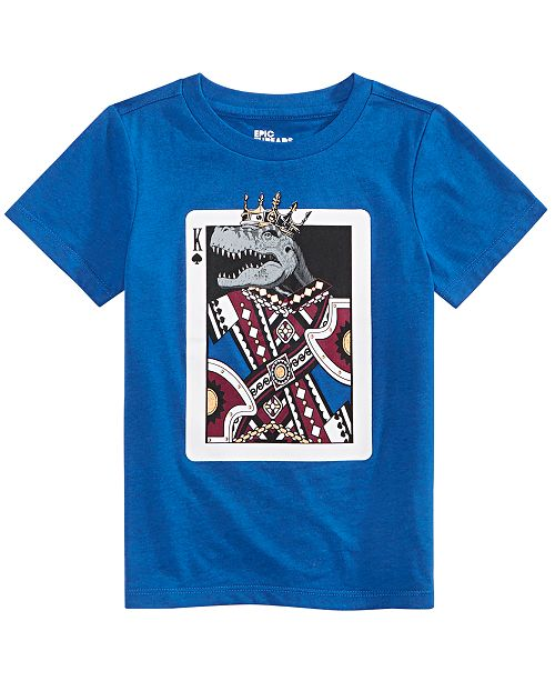 Epic Threads Toddler Boys King Card T-Shirt, Created For Macy's