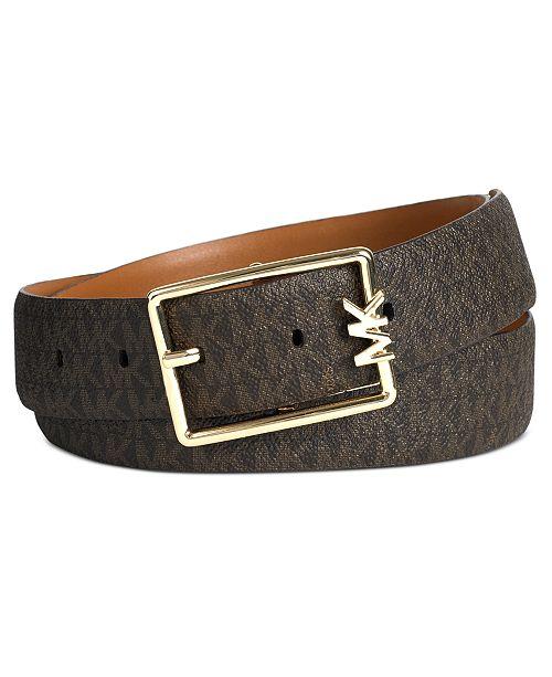 Michael Kors Reversible Logo Leather Belt