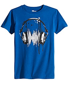Big Boys Headphones T-Shirt, Created For Macy's