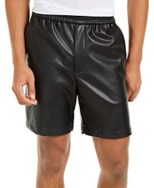INC Men's Faux Leather Shorts, Created For Macy's