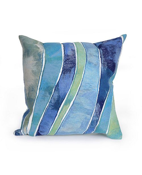 """Liora Manne Visions III Waves Indoor, Outdoor Pillow - 20"""" Square"""