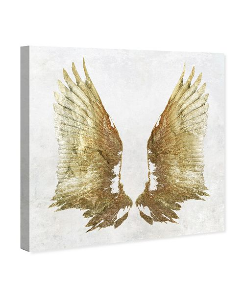 "Oliver Gal Golden Wings Light Canvas Art, 12"" x 12"""