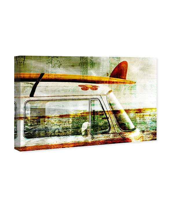 "Oliver Gal Surf Van Canvas Art, 24"" x 16"""