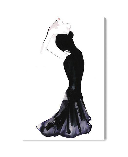 "Oliver Gal Black Dress - Gill Bay Canvas Art, 30"" x 45"""