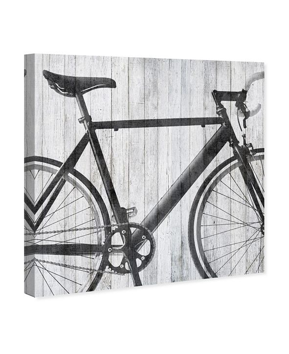 "Oliver Gal Mode Bicycle Canvas Art, 12"" x 12"""