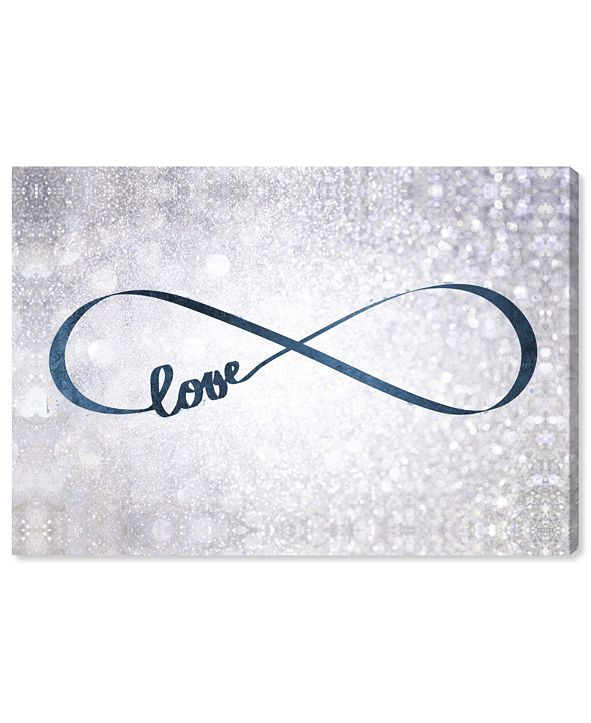 "Oliver Gal Sparkle Love Snow Canvas Art, 15"" x 10"""