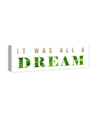 It Was All A Dream Classic Canvas Art, 30