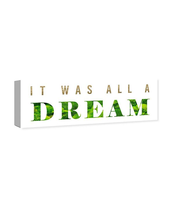 "Oliver Gal It Was All A Dream Classic Canvas Art, 30"" x 10"""