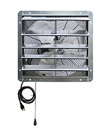 "18"" Shutter Exhaust Attic Garage Grow Fan, Ventilation Fan with 3 Speed Thermostat"