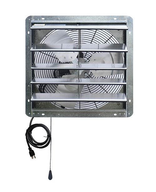 "iLiving 18"" Shutter Exhaust Attic Garage Grow Fan, Ventilation Fan with 3 Speed Thermostat"