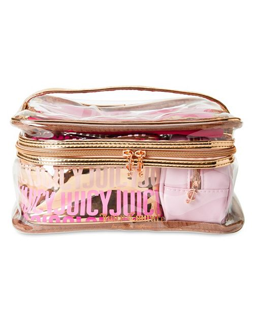 Juicy Couture Set of 4 Cosmetic Bags - Train Case