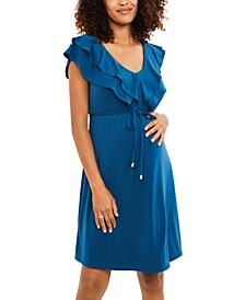 Maternity Ruffled A-Line Dress