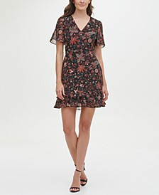 Chiffon Printed Fit and Flare