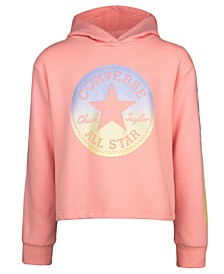 Big Girls Cropped Logo-Print Hoodie