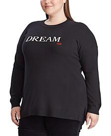 Plus Size Love Knit Cotton-Blend Sweater